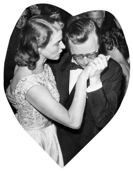 Herzig: Bergman mit ihrem Ehemann Lars Schmidt 1959 - das Foto hat die...