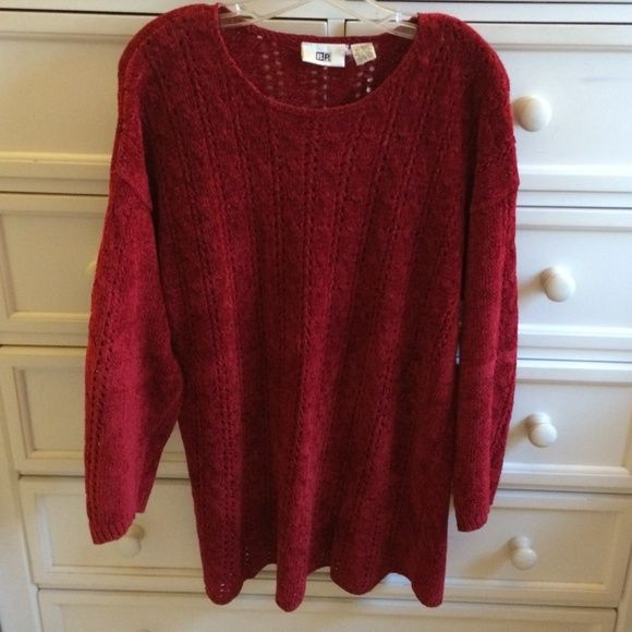 Warm Red Sweater Great red sweater! Thick and warm! Super