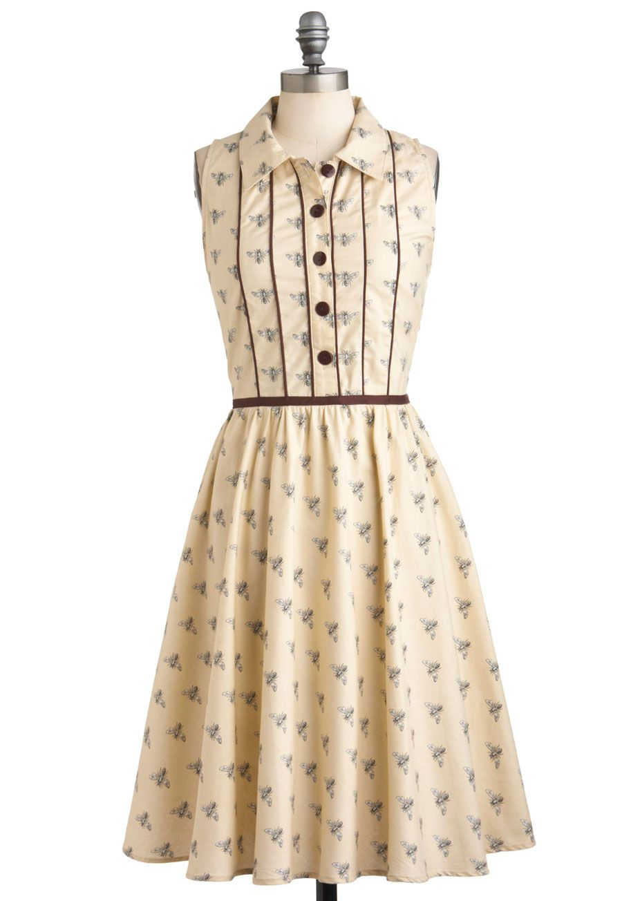Lush with Beauty Dress in Garden | Casual, Retro vintage dresses ...