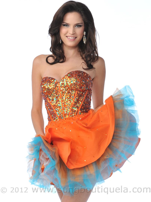 Strapless Corset Sequin Top Short Prom Dress   dresses   Pinterest ...