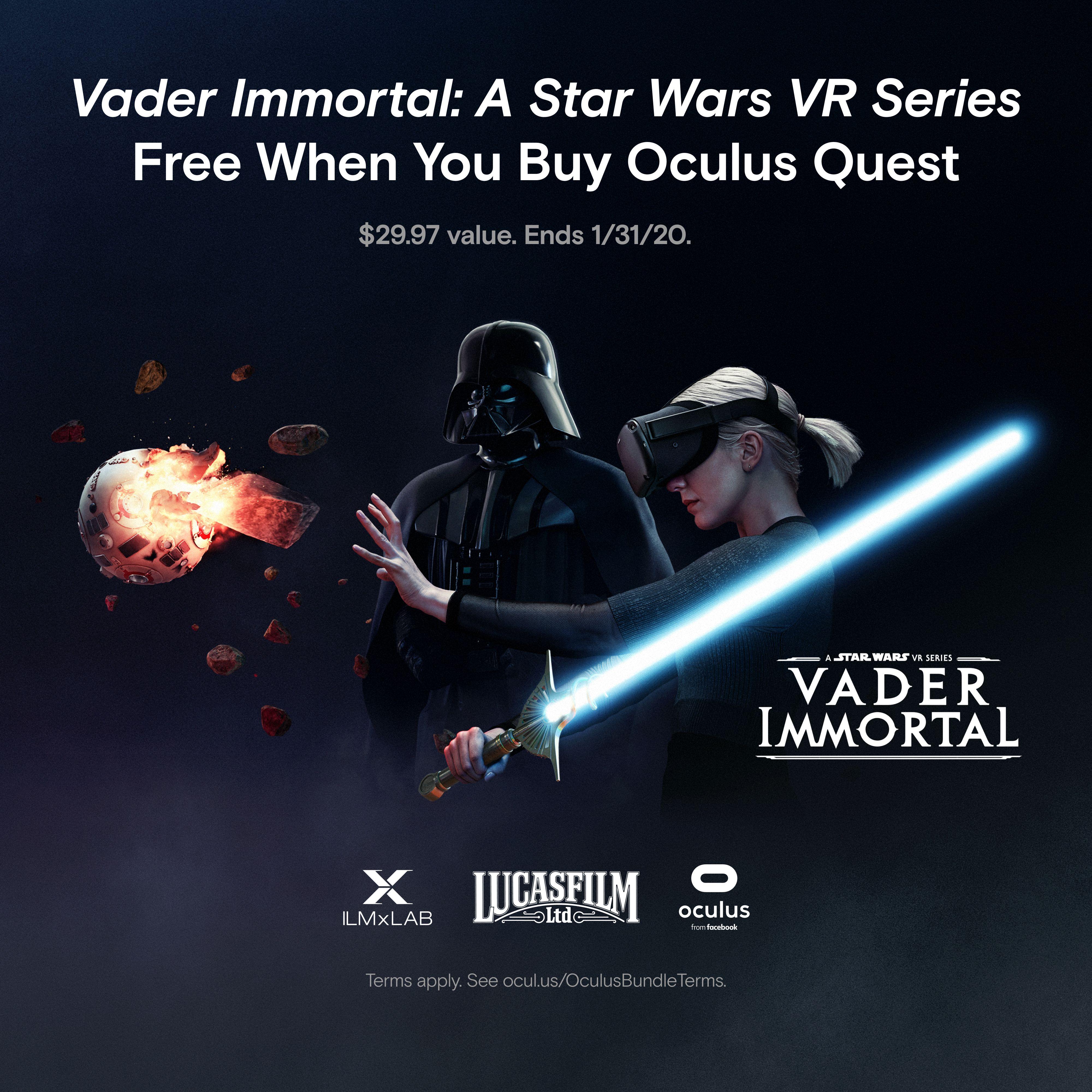 Oculus Quest 64gb Vr Headset Vader Immortal A Star Wars Vr Series