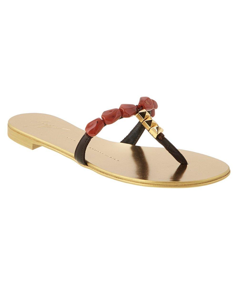 GIUSEPPE ZANOTTI Giuseppe Zanotti Embellished Metallic Leather Sandal'. #giuseppezanotti #shoes #sandals