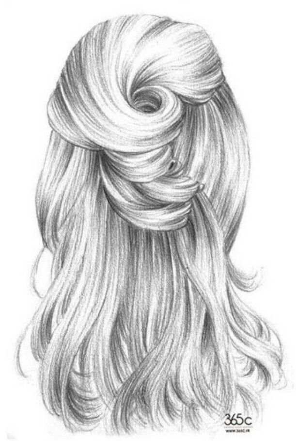 Pin By Diana Martinez On Art And Beautiful Hair Illustration How To Draw Hair Sketches