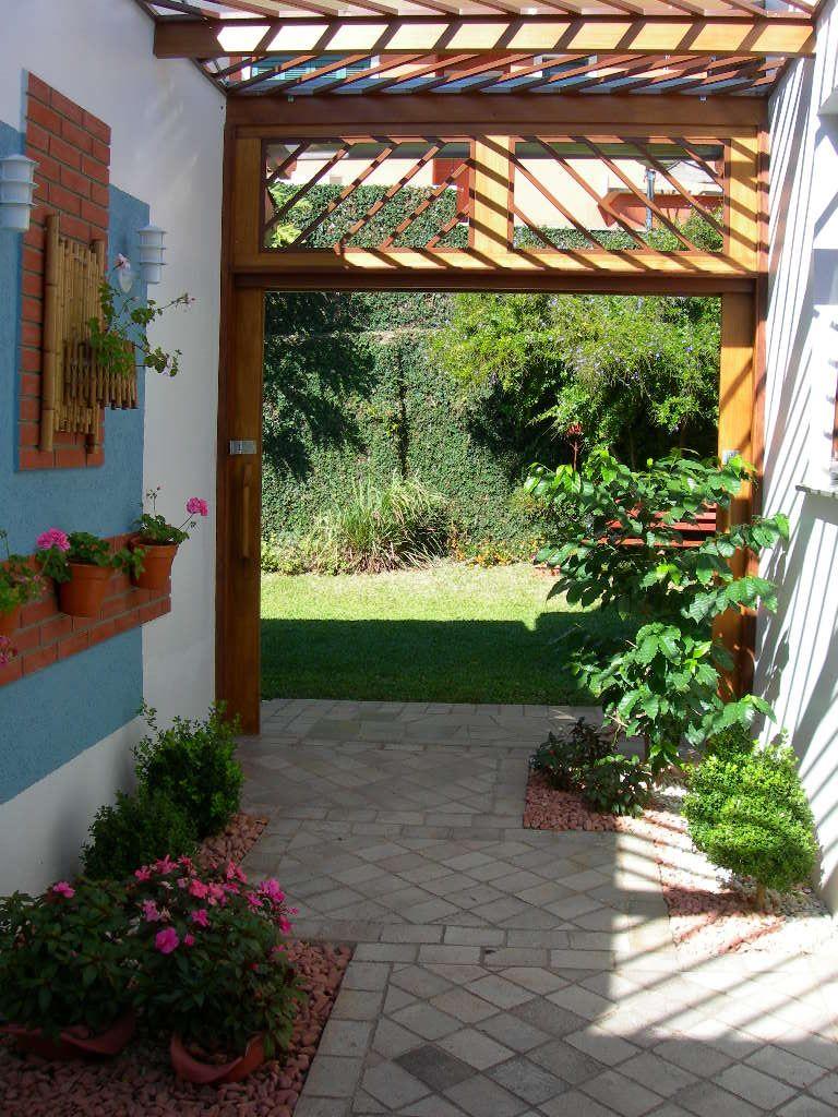 Decora o de jardim pequeno externo paisagismo for Jardines pequenos simples