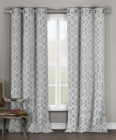 Look what I found on #zulily! Gray Harris Blackout Grommet Panel - Set of Two #zulilyfinds