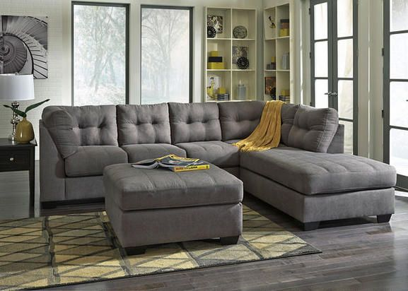 raf corner chaise sectional by benchcraft get your maier charcoal 2 pc raf corner chaise sectional at sofa solutions batavia il furniture store