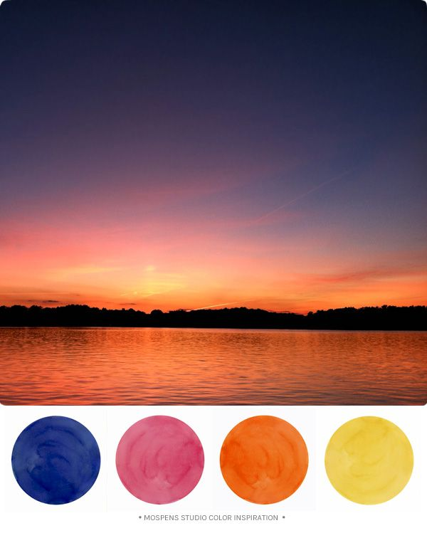 Sunset Beach Wedding Ideas: Sunset Shore View : Color Inspiration