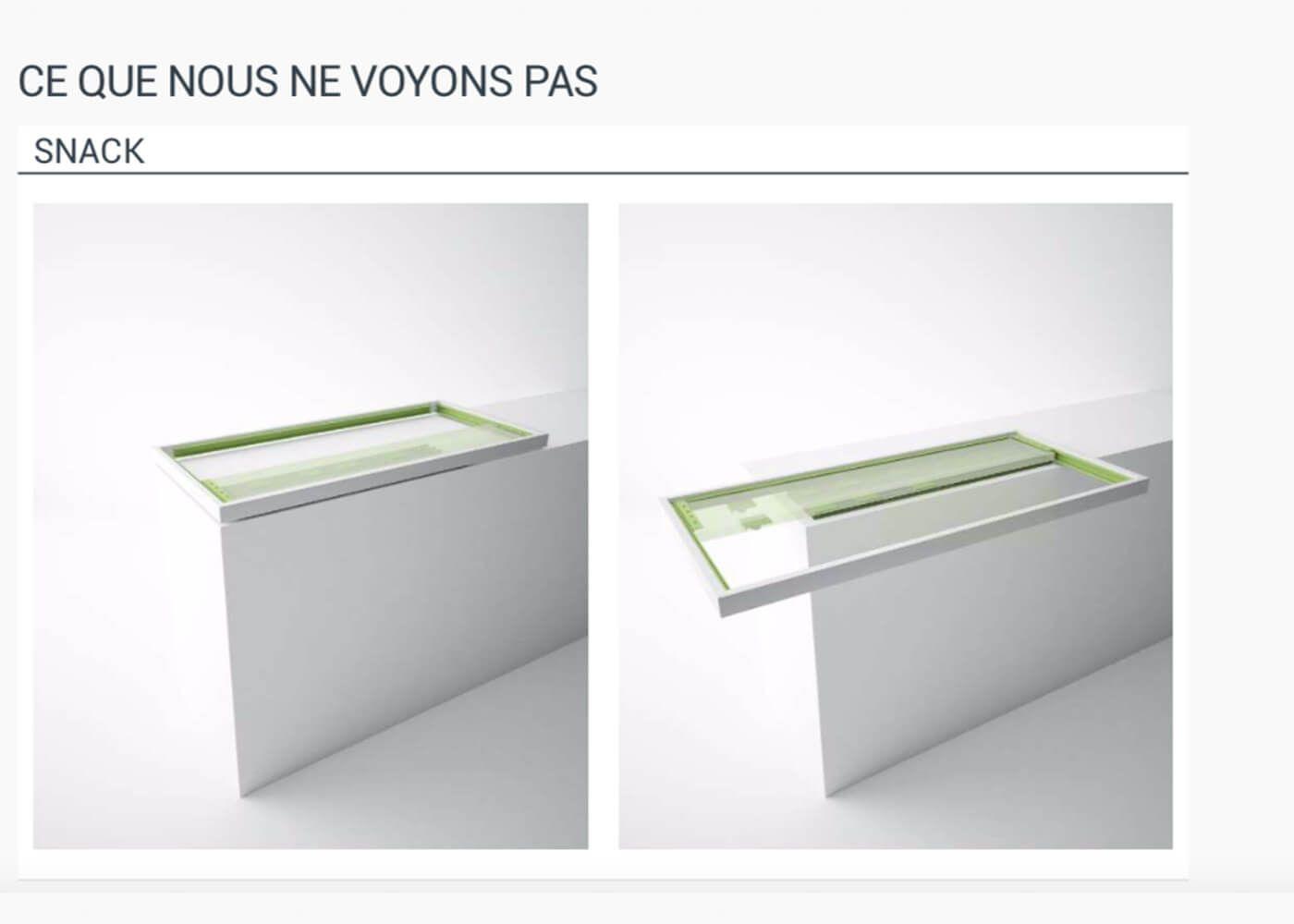 Plan De Travail Mobile table bar mobile coulissante multi directionnelle en