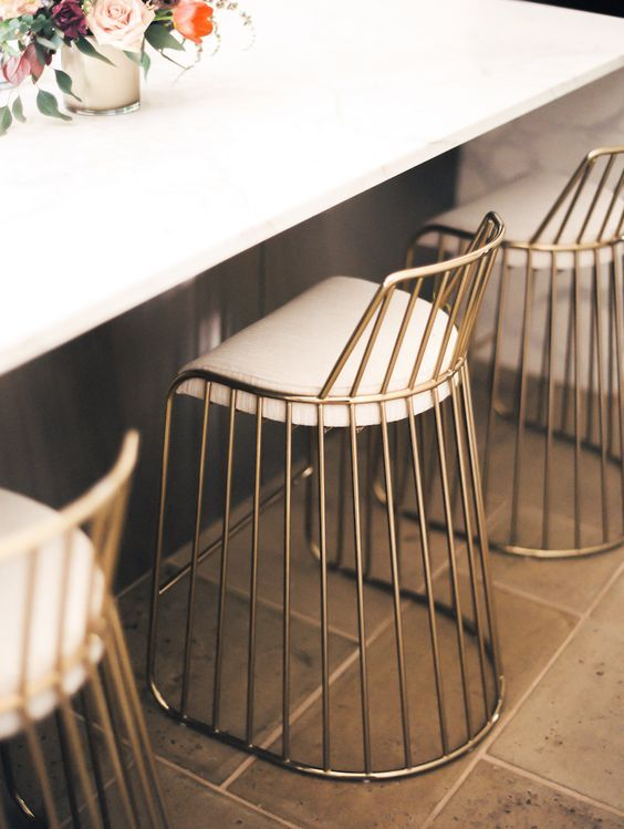 Interiors Trend Metallic Chairs For The Home Brass Bar Stools Cool Bar Stools