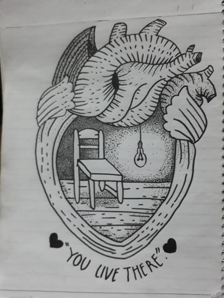 رسمة جديدة Drawings Heart Drawing Tattoo Drawings