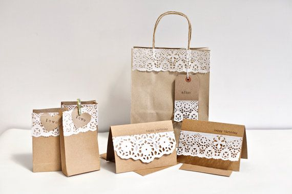 Wedding or Party Favour Favor Bags Kraft Paper Gift Bags