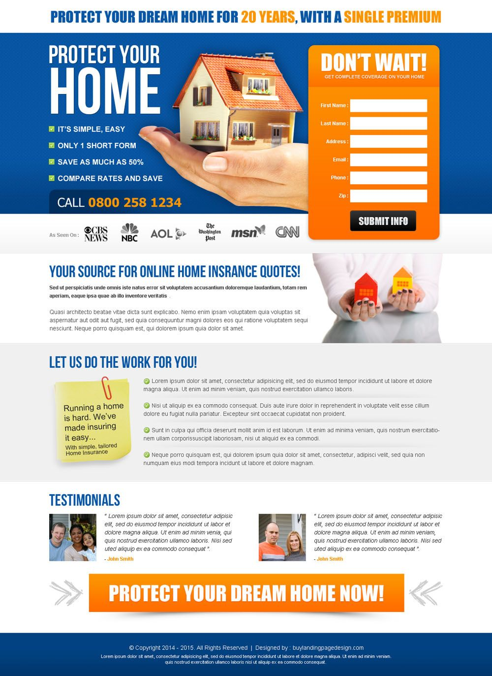 Highest Converting Online Home Insurance Quotes Effective Lead