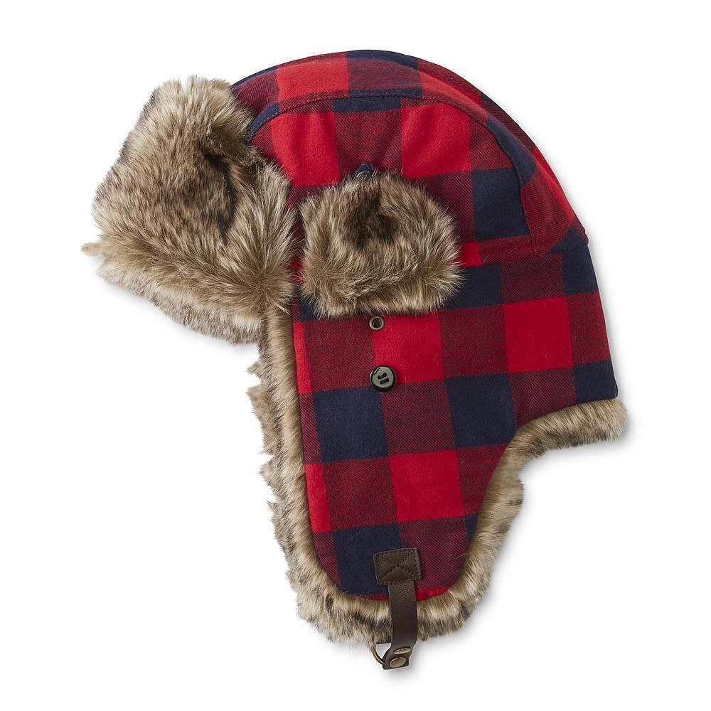 472025ee484 Details about Buffalo Plaid Trapper Hat Red Bomber Winter Accessory ...
