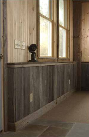 Natural Color Barn Wood Interior Wood Wainscoting Home
