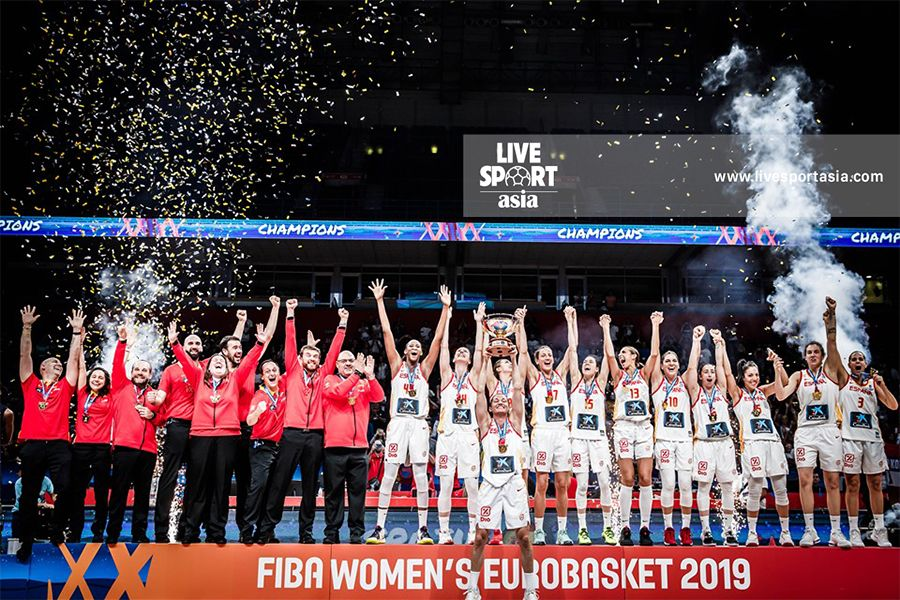 Spain Women S Basketball Became The First Team To Protect The Women S Eurobasket Title After 28 Years Most Popular Sports One Championship Sports News