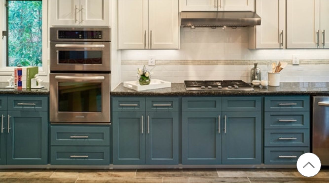 Double Ovens Teal Kitchen Cabinets New Kitchen Cabinets Kitchen Renovation