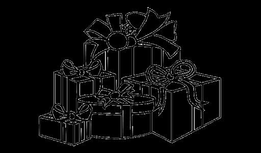 Gambar Mewarnai Kado Hadiah Natal Coloring Pinterest Christmas