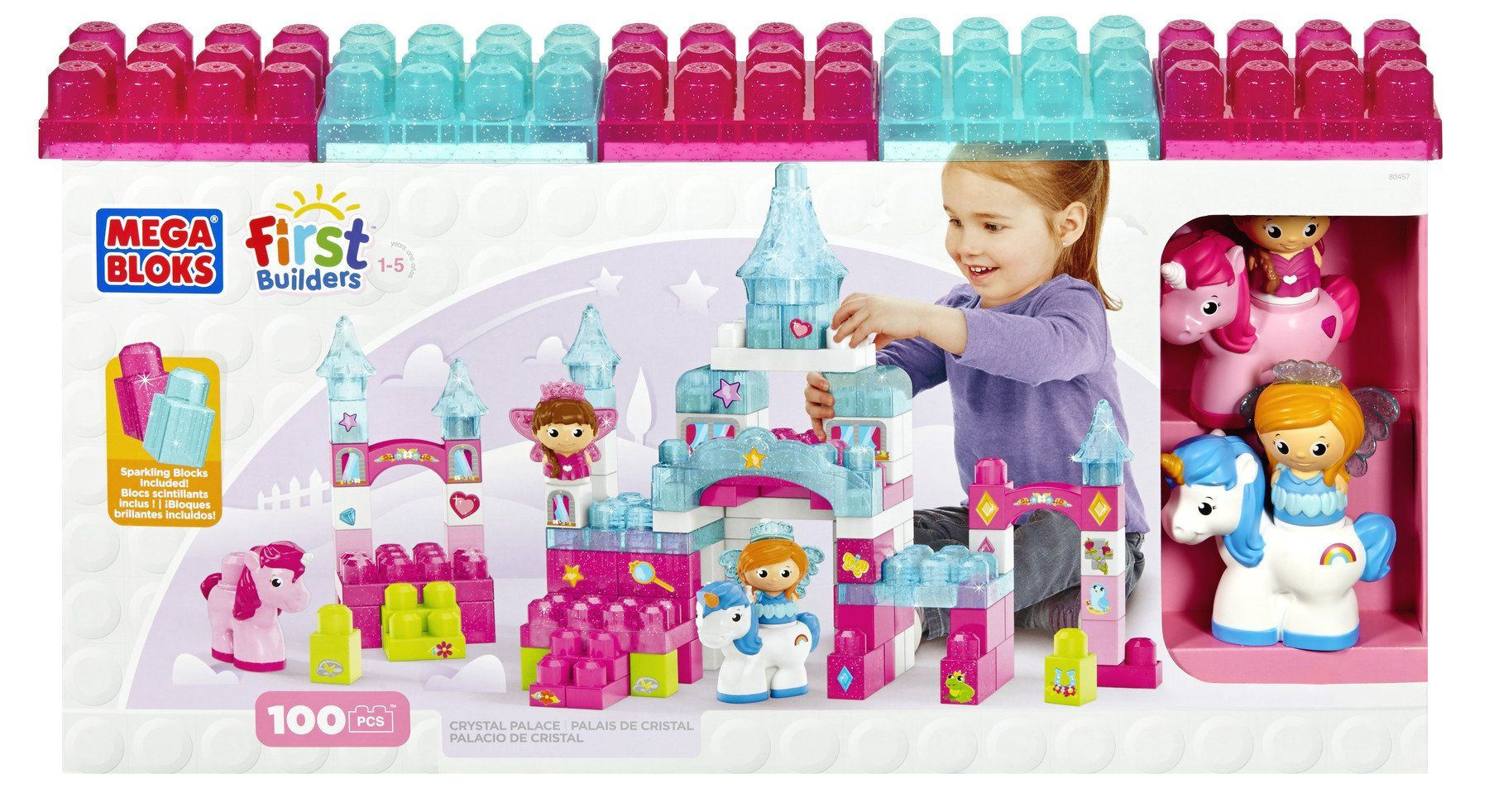 Mega Bloks First Builders Crystal Palace | Crystal castle, Toddler play, Cool toys