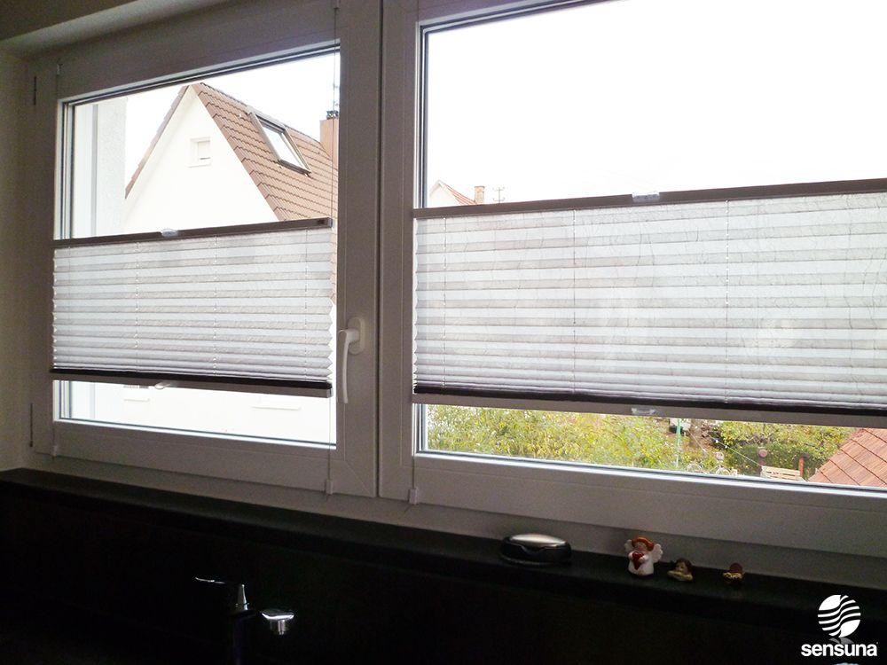 K chen sichtschutz von sensuna in modernem grau k che pinterest garten sichtschutz und - Kuchenfenster sichtschutz ...