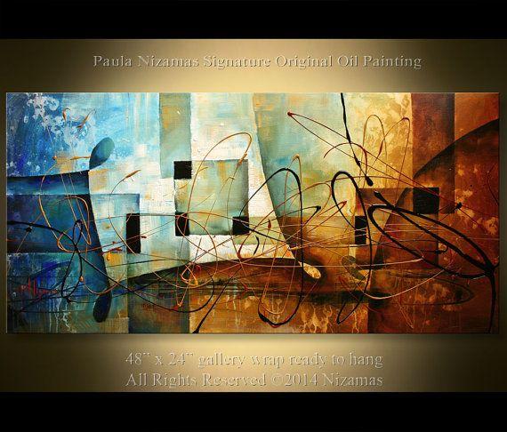 The Bridge of Dreams Original Abstract Modern Painting por Artcoast