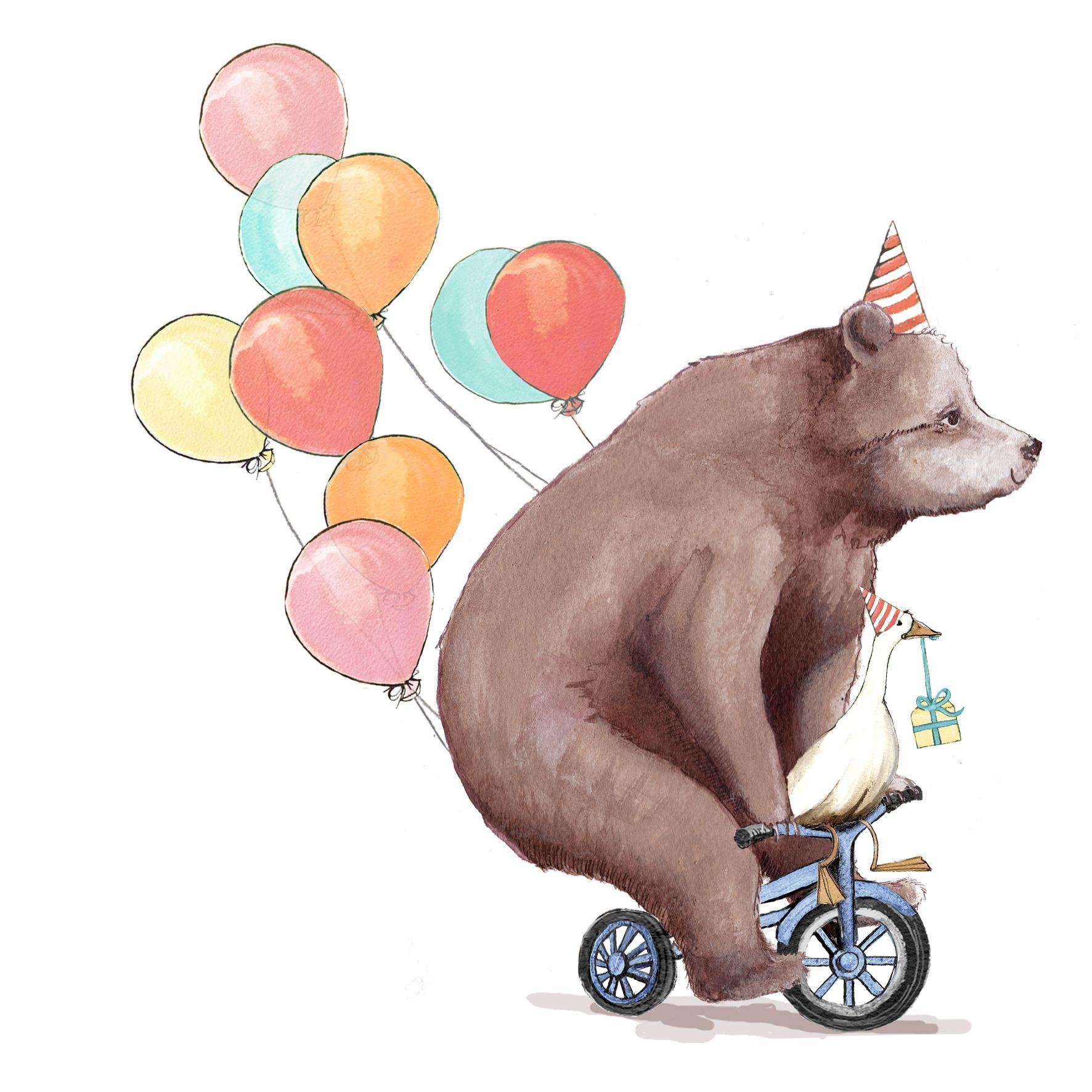 bear on bike Google Search Art Pinterest – Birthday Card Bear