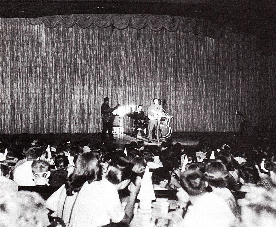 April 23, 1956 - Elvis performed at the Venus Room, New Frontier Hotel, Las  Vegas at 8.00 p.m. and midnight.   Young elvis, Elvis presley live, Elvis