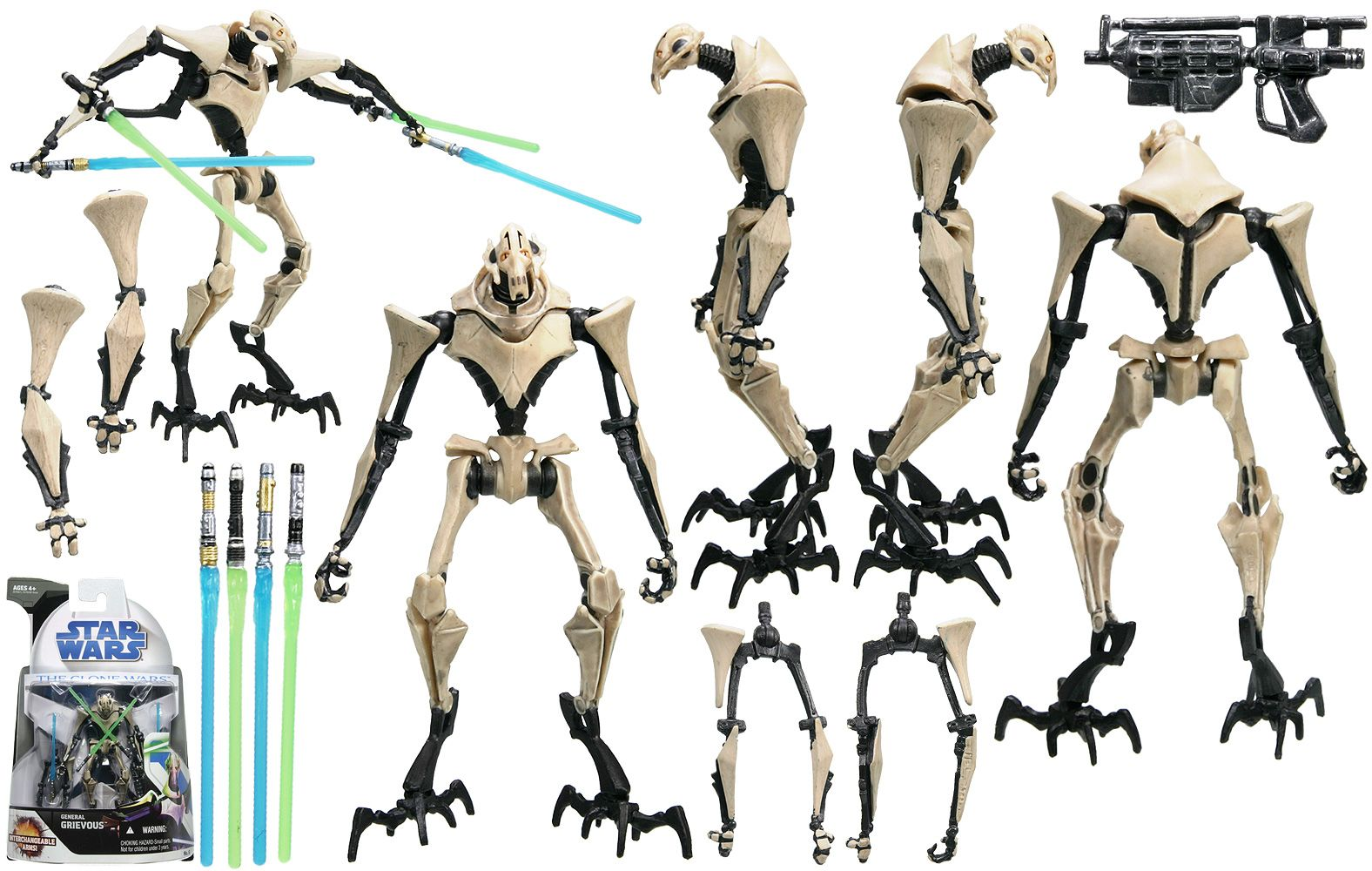 General Grievous Hasbro The Clone Wars No 6 Clone Wars War Star Wars Toys
