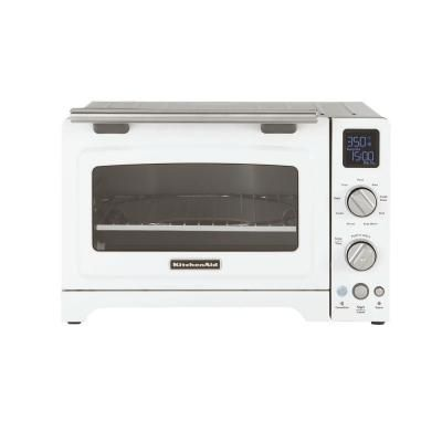 Kitchenaid 2000 W 4 Slice White Convection Toaster Oven With Non Stick Pan Broiling Rack And Cool Convection Toaster Oven Toaster Oven Kitchenaid Toaster Oven