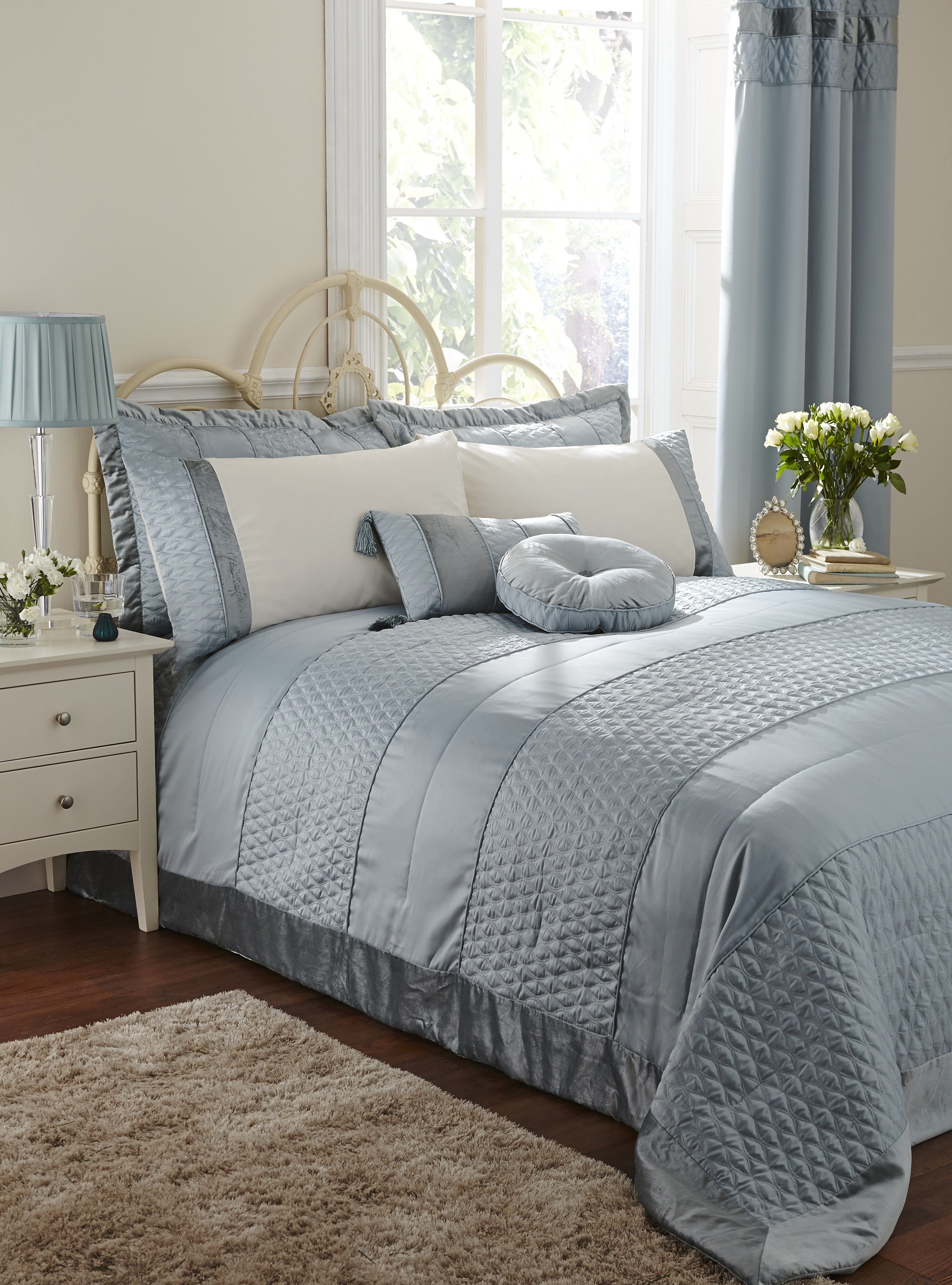 Life From Coloroll Aston Quilted Bedspread Duckegg Ponden Homes