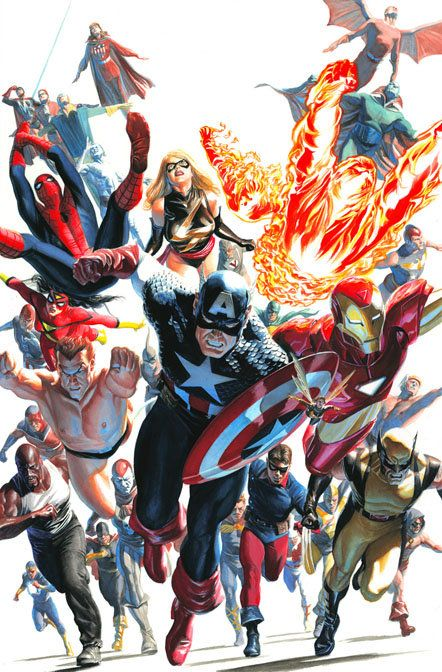 """""""Avengers Invaders #12"""" By Alex Ross - Limited Edition Giclée on Canvas (man cave)"""