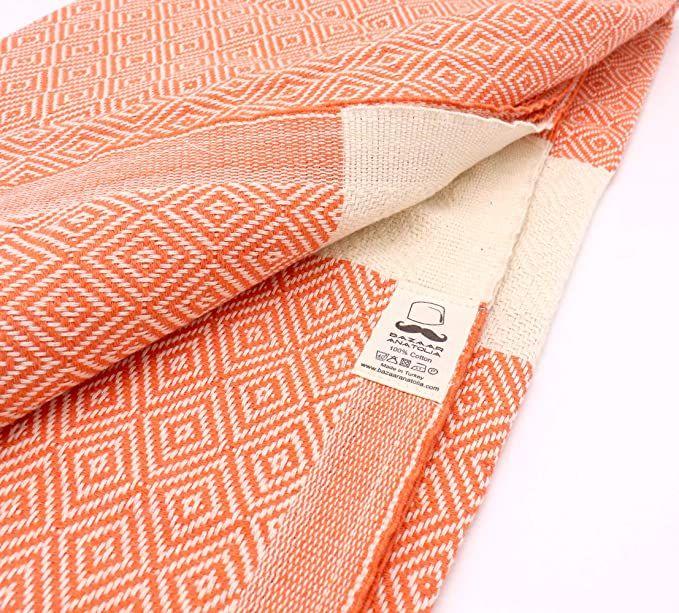 Amazon.com: Bazaar Anatolia Diamond Turkish Towel 100% Cotton Peshtemal Bath Towel 77×38 Thin Lightw