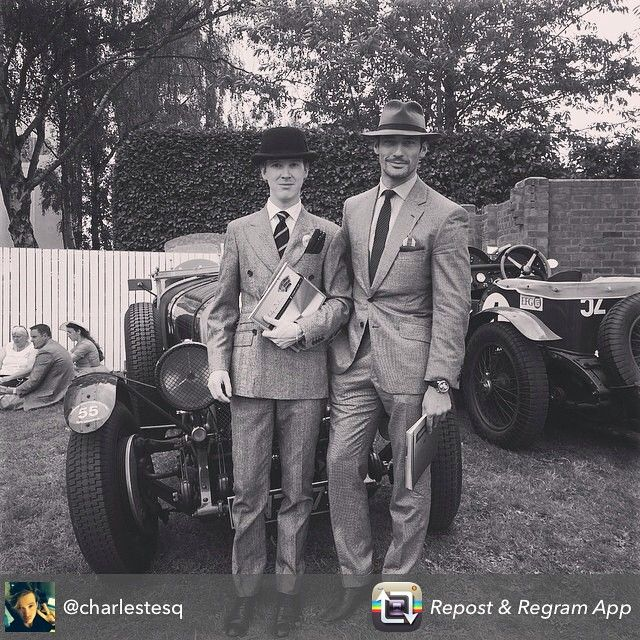 """Repost from @charlestesq : ""Should have been born in the roaring 20's"" // @goodwoodrevival"""