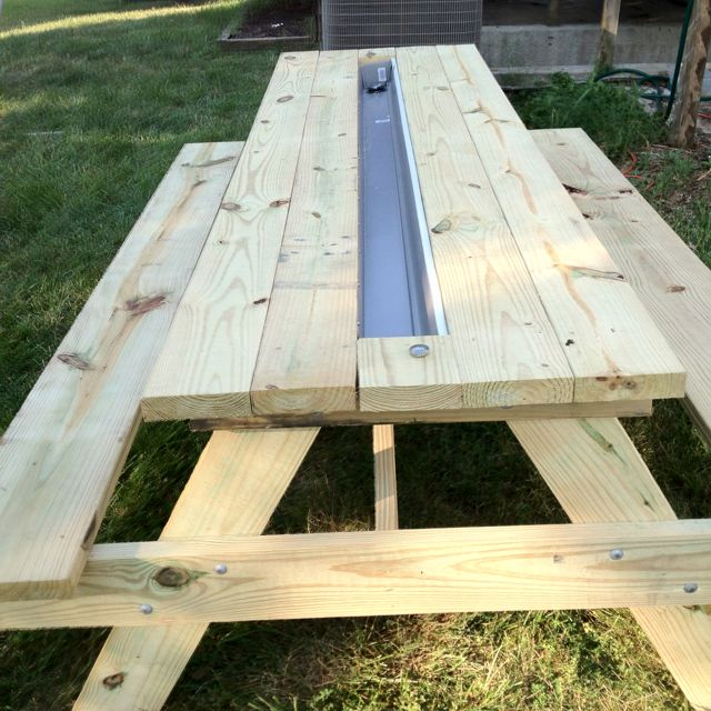 Homemade Cooler Picnic Table With Popup Bathtub Drainage System