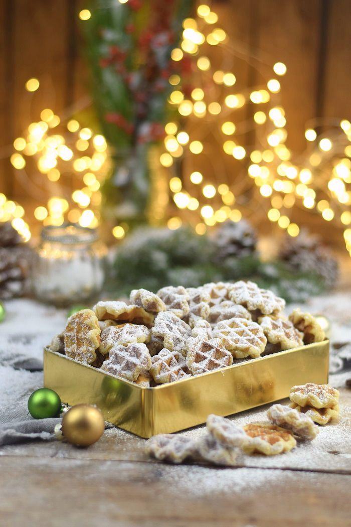 Spekulatius - Waffelplätzchen - Speculoos Waffle Christmas Cookies #christmascookies