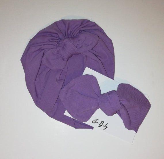 Baby Headband, Purple headwrap style bow, Baby shower gift #headwrapstyles
