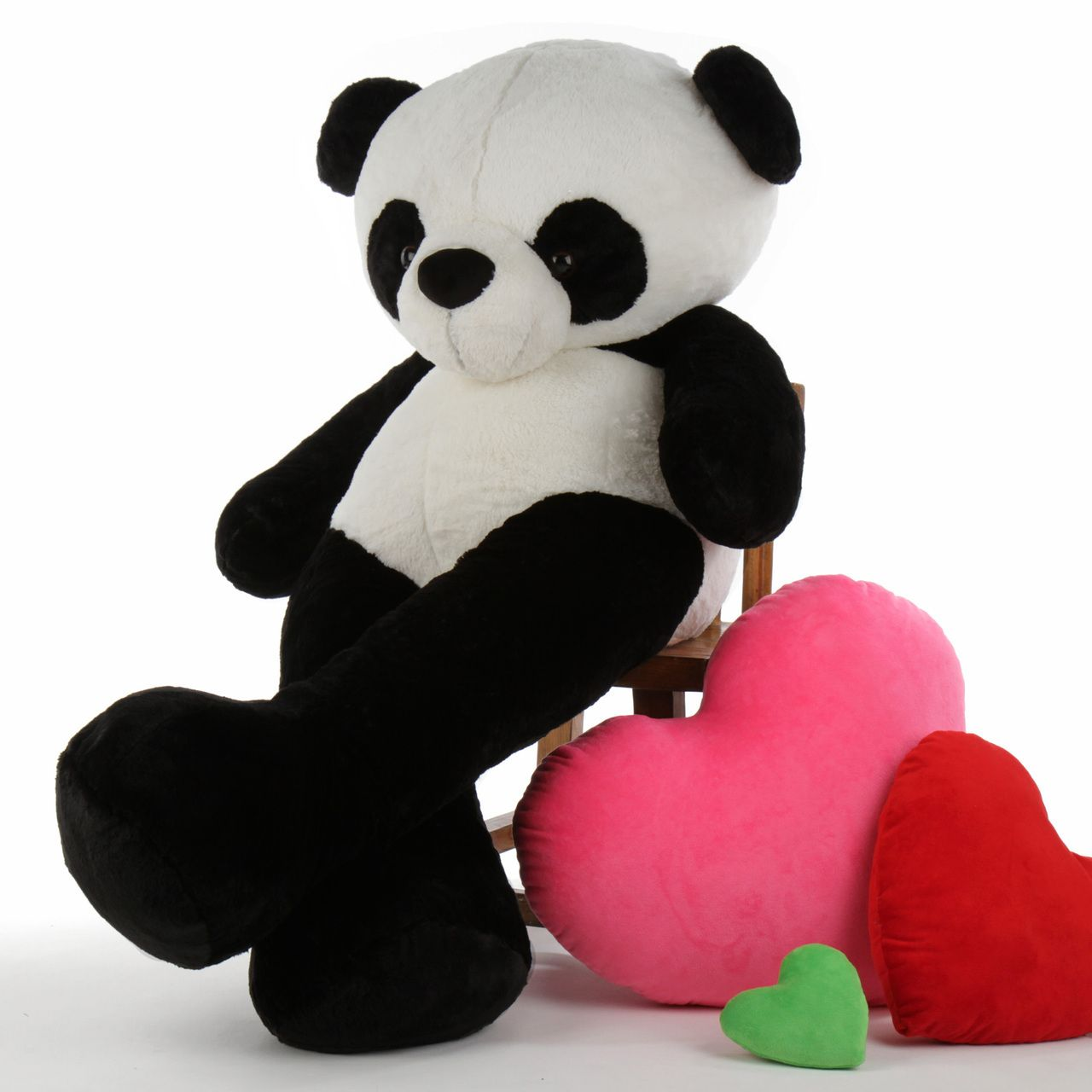 60in Life Size Panda Bear Precious Xiong Huggable Stuffed Animals Panda Bear Giant Teddy