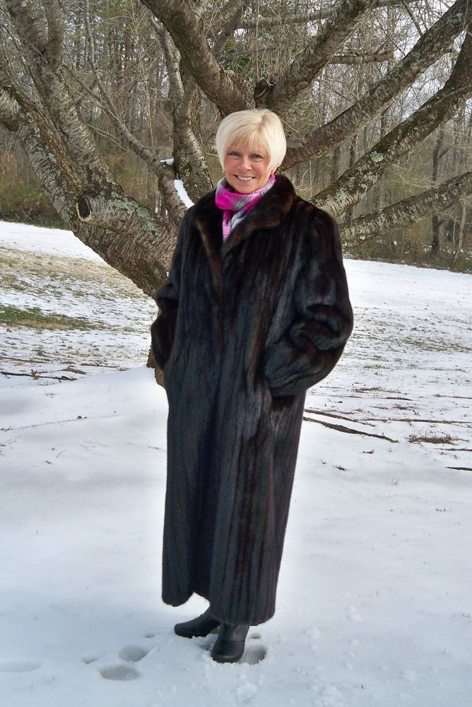 Designer SCAASI Sable Brown Female MINK Fur Coat 50&quot Long 2X 3X 18