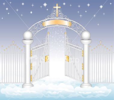 Image result for PICTURE OF someone waiting at heaven's door