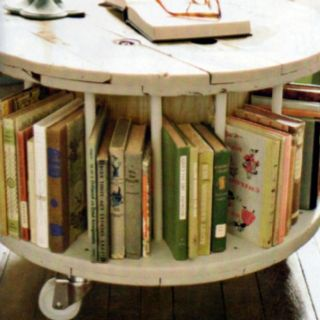 It A Large Wood Spool Bookcase And I Want To Make This