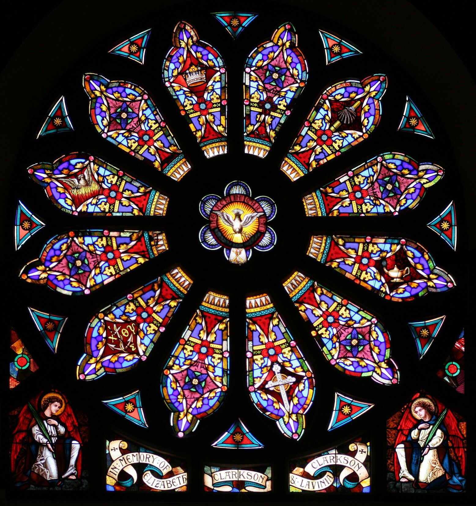 Gothic Stained Glass Rose Windows Window