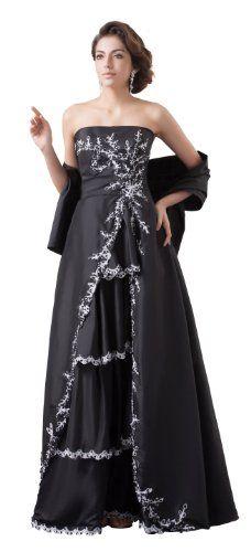 herafa p32478-18 Evening Gowns Elegant Strapless/Tube Sleeveless Rows of Lace Delicate Beading Maxi 0 A-Line Black herafa http://www.amazon.co.uk/dp/B00H35I6I8/ref=cm_sw_r_pi_dp_FJIlvb0AK05NQ