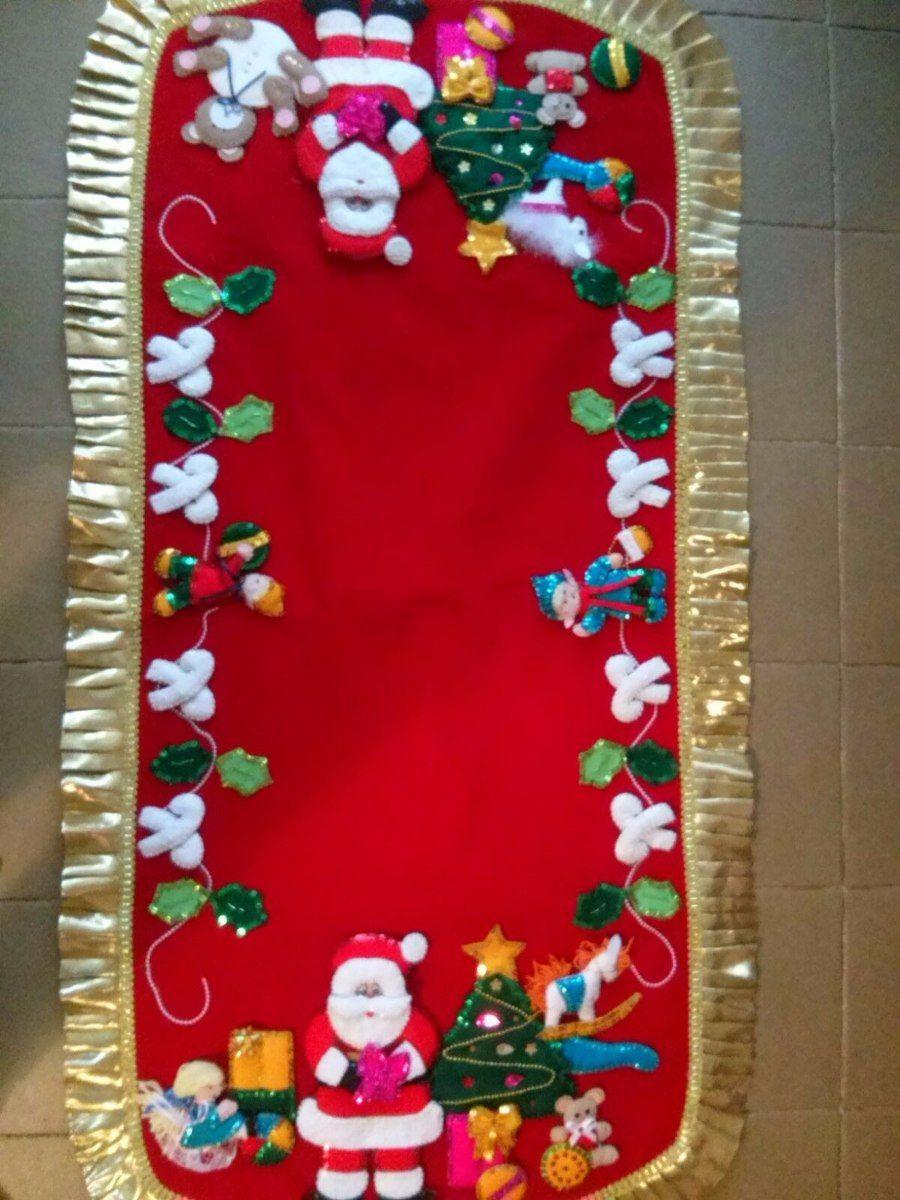 Espectaculares caminos de mesa navide os navidad - Manteles para navidad ...