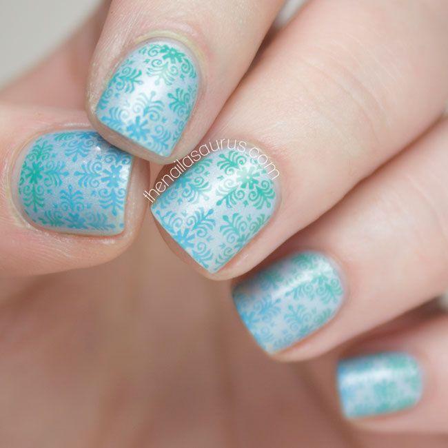 Video: Gradient Nail Art Stamping Tutorial | Stamping nail art, Art ...