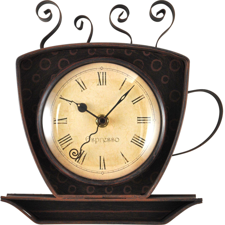 Coffee Cup Wall Clock | Home office | Pinterest | Wall clocks ...