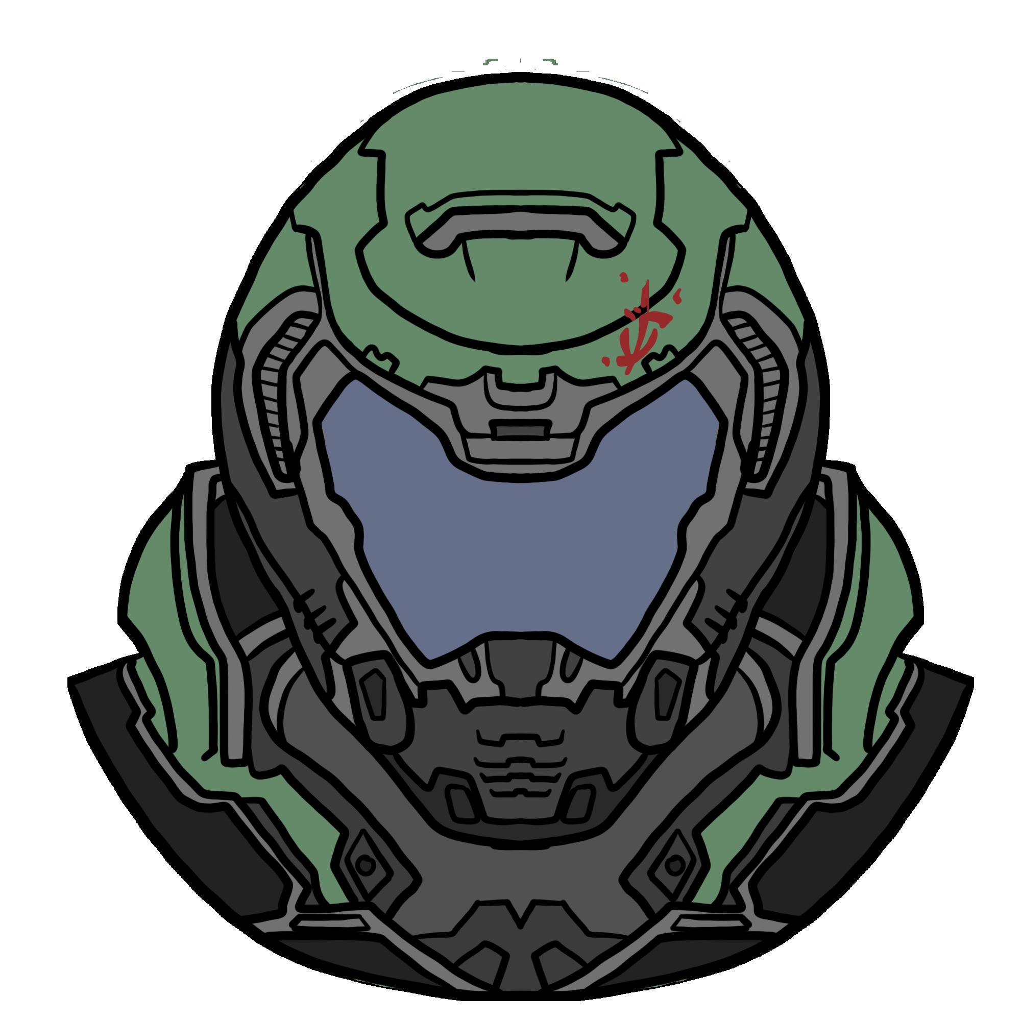 I Drew A Doomguy For My Future Sticker Shop Doom