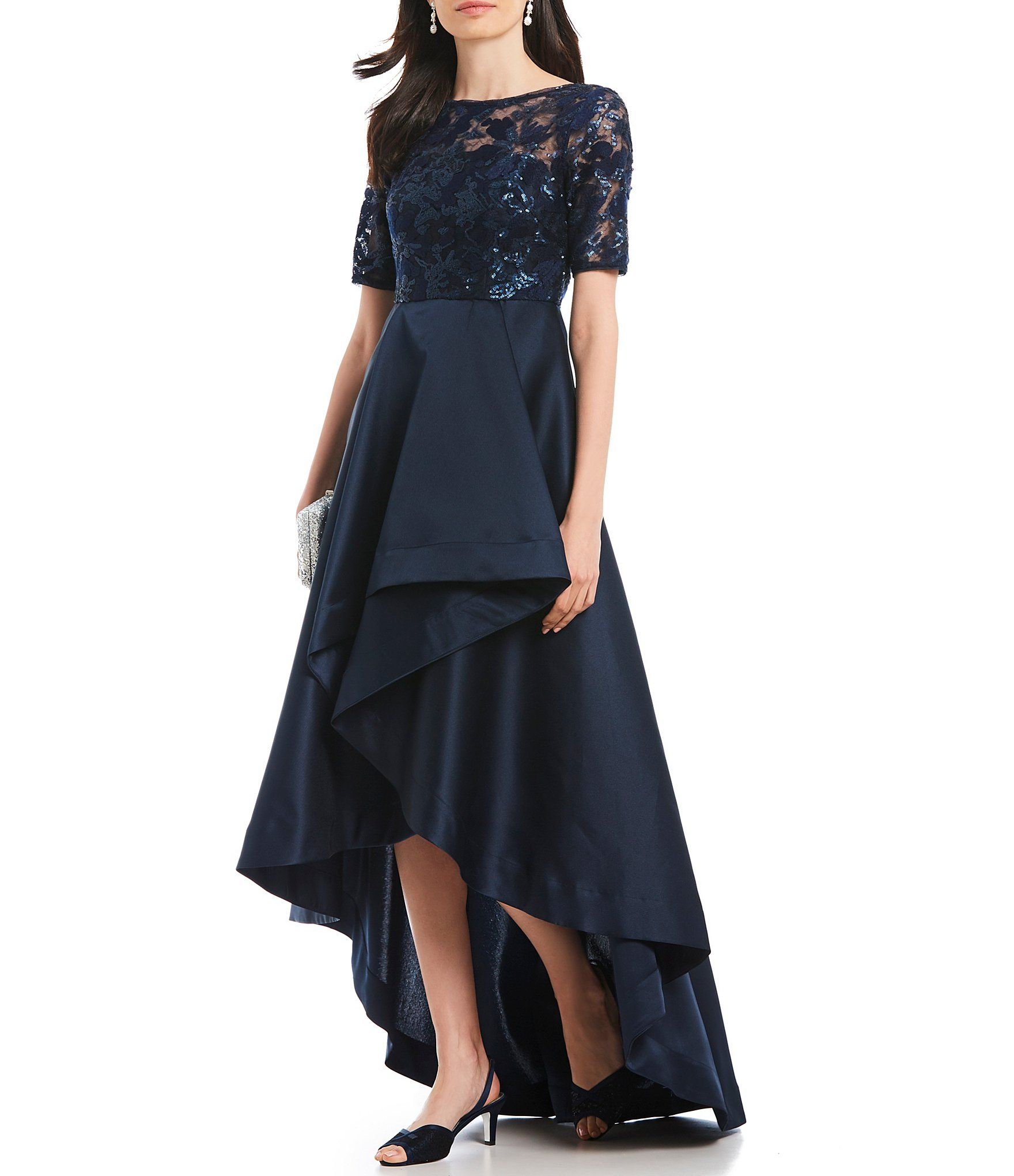 3e34bf2220a Shop for Adrianna Papell Sequin Bodice Hi-Low Gown at Dillards.com. Visit  Dillards.com to find clothing