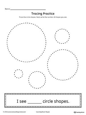 Geometric Shape Counting And Tracing Circle Pattern Worksheet Tracing Worksheets Shapes Worksheets Circle shape worksheets for preschool