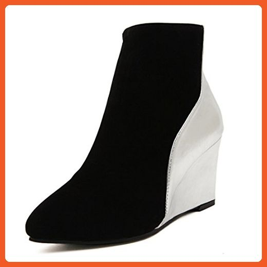 5b08894320ea DLHH Ladies Womens Fashion Cold Weather Wedges Heel High Heel Fleece Pumps  Shoes Ankle Boots for
