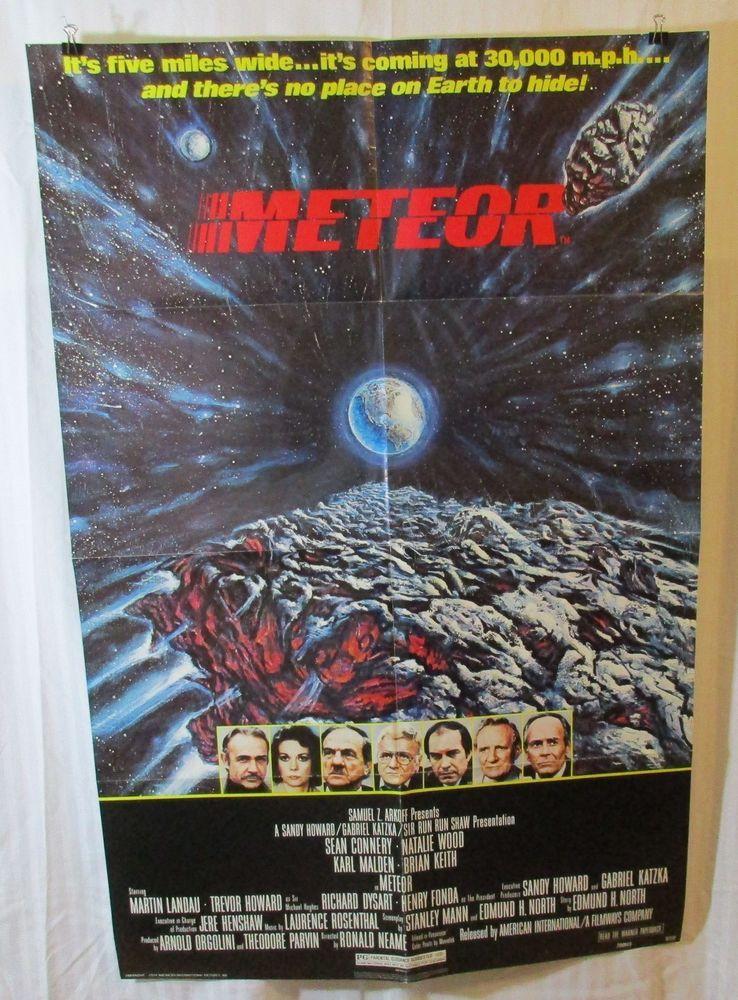 Meteor 1979 Movie Poster Sean Connery Natalie Wood Karl Malden Henry Fonda