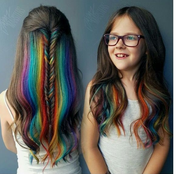 This Is Really Pretty Rainbow Hair For Kids Love It